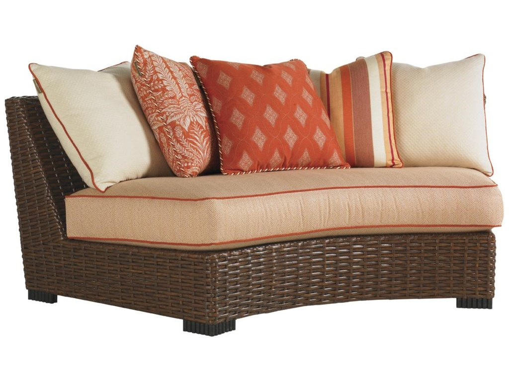 Tommy Bahama Outdoor Living Ocean Club PacificaOutdoor Curved Armless Sofa