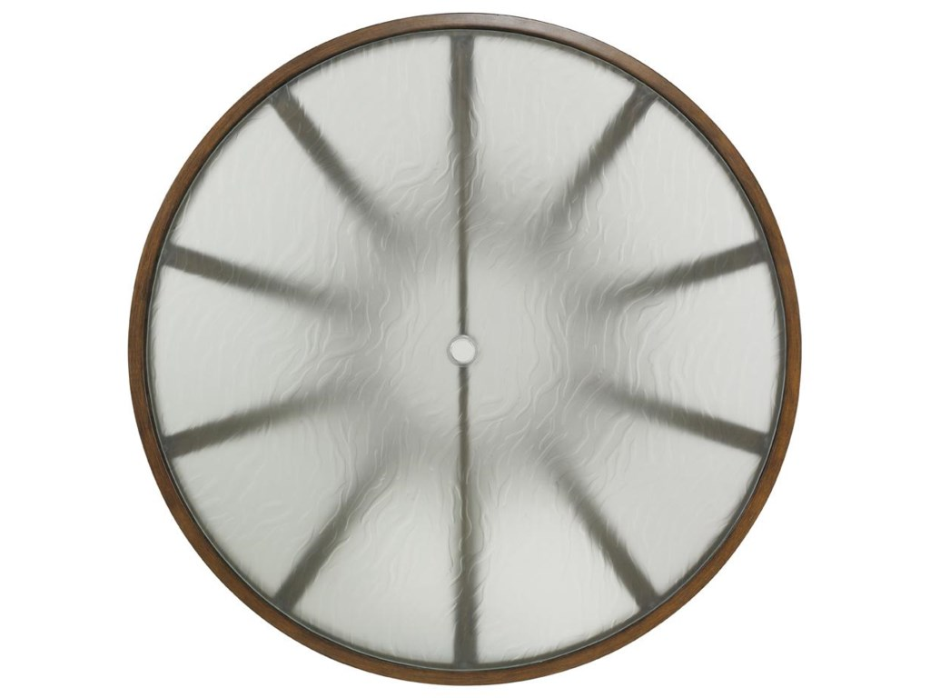Detail of Round Etched Glass Table Top