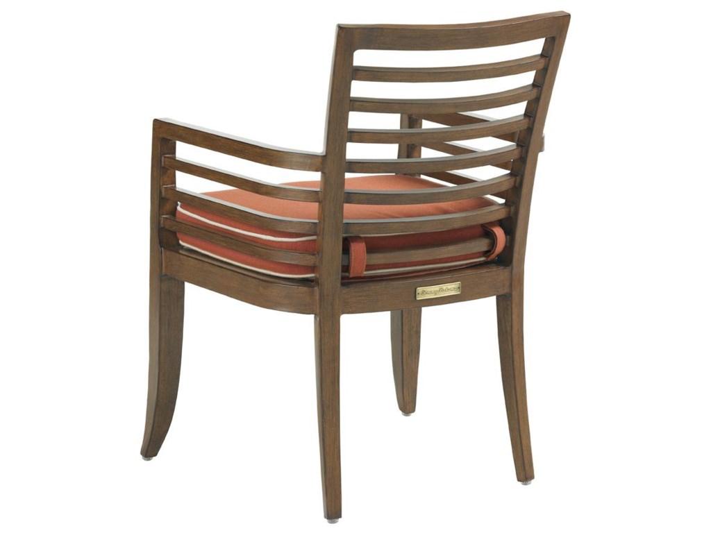 Back of Horizontal Back Dining Arm Chair