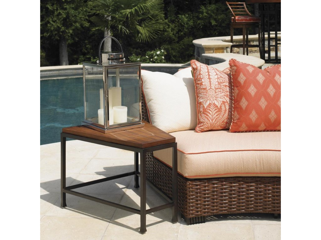 Tommy Bahama Outdoor Living Ocean Club PacificaWedge Top Accent Table