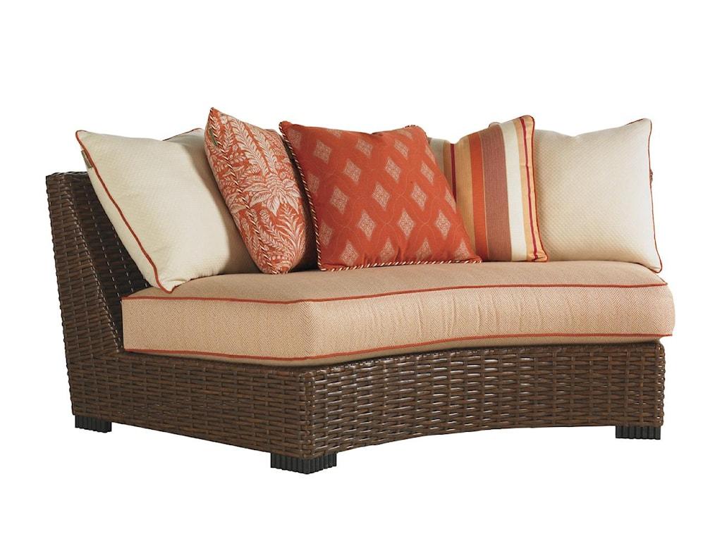 Armless Curved Sofa