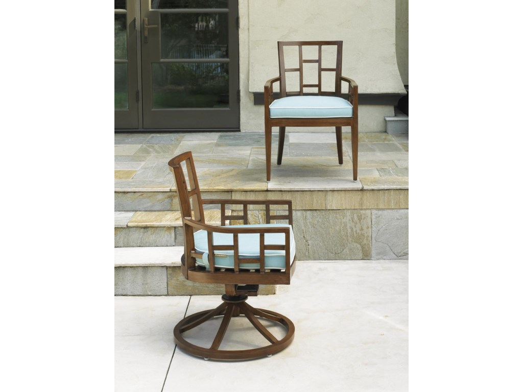 Tommy Bahama Outdoor Living Ocean Club ResortSwivel Rocker Dining Chair
