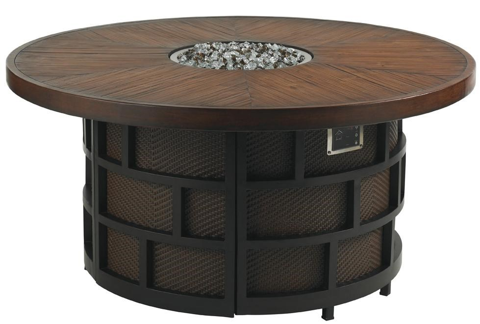 Tommy Bahama Outdoor Living Ocean Club ResortGas Fire Pit with Weatherstone Top