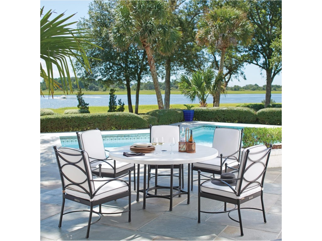 Tommy Bahama Outdoor Living Pavlova6 Piece Outdoor Table and Chair Set