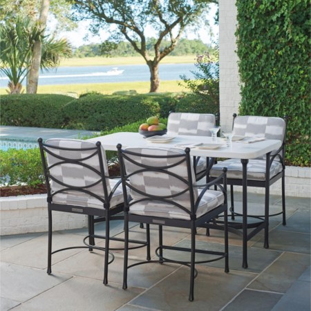 5 Piece Outdoor Hi/Lo Bistro Dining Set