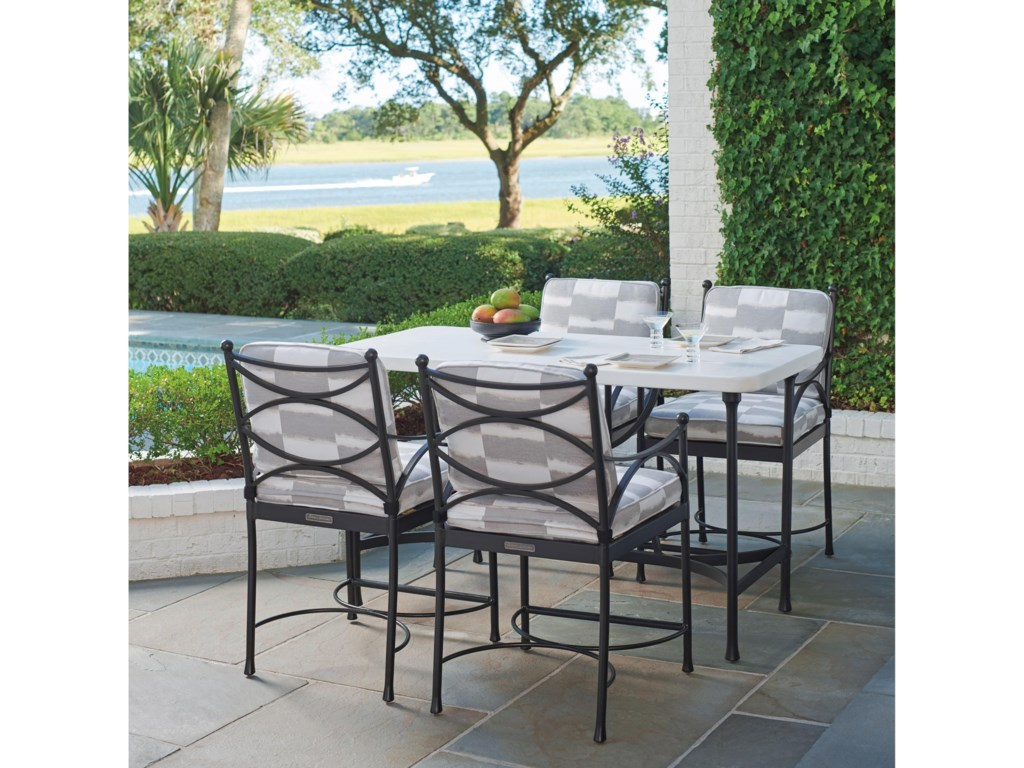 Tommy Bahama Outdoor Living Pavlova5 Piece Outdoor Hi/Lo Bistro Dining Set