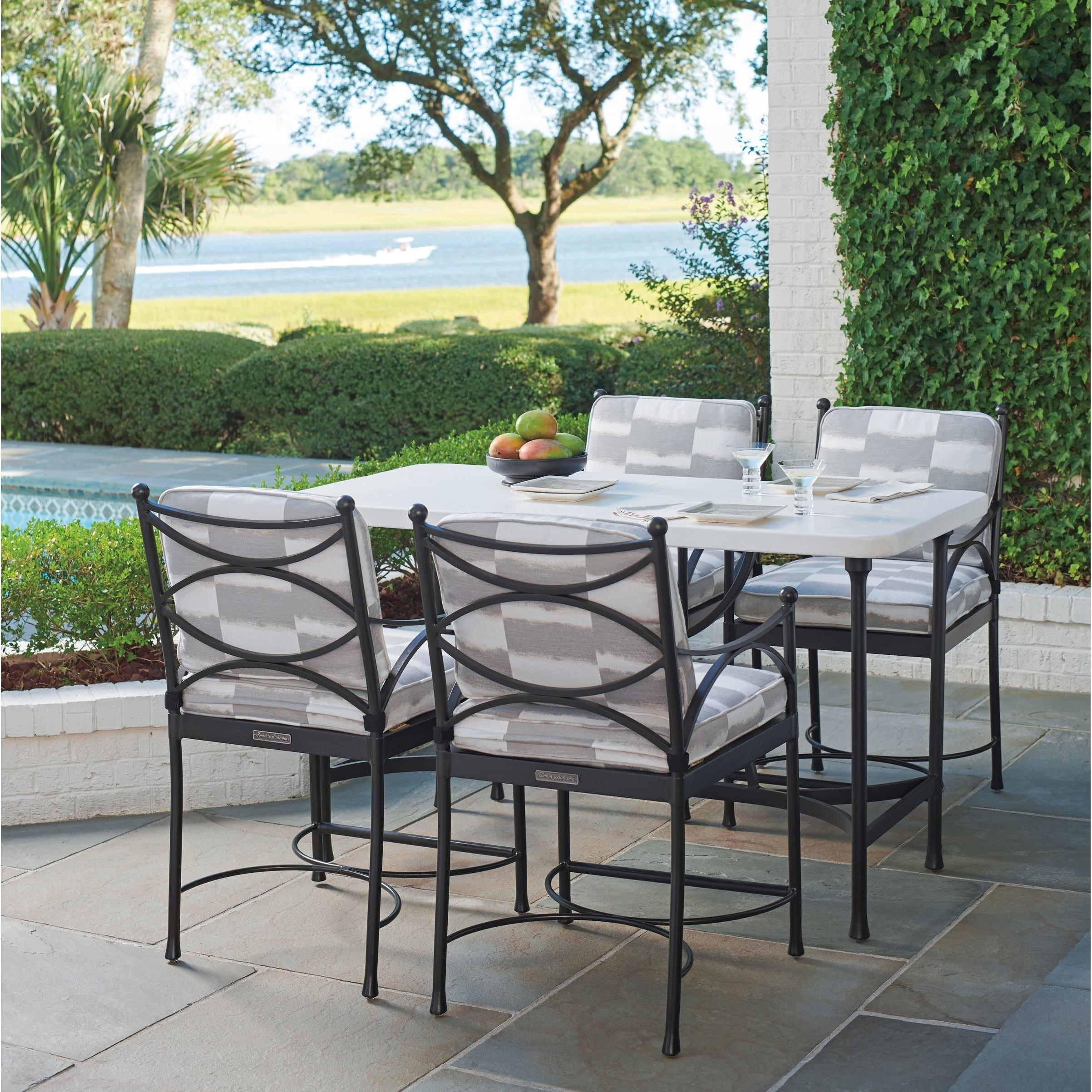 Tommy Bahama Outdoor Living Pavlova5 Piece Outdoor Hi/Lo Bistro Dining Set  ...