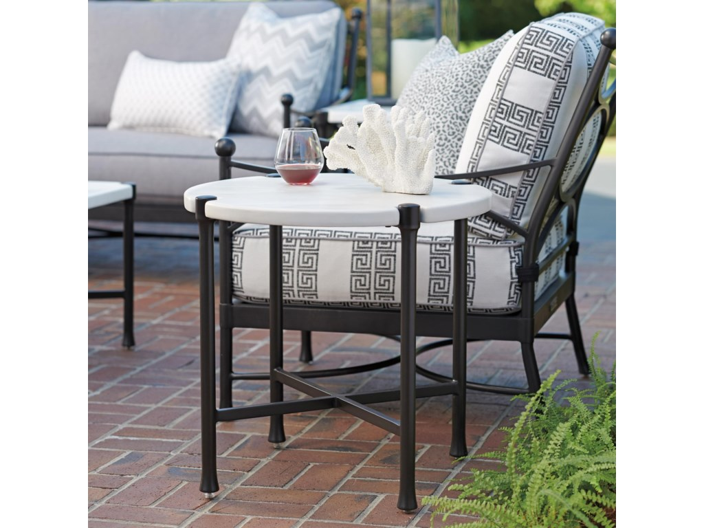 Tommy Bahama Outdoor Living PavlovaOutdoor Round End Table