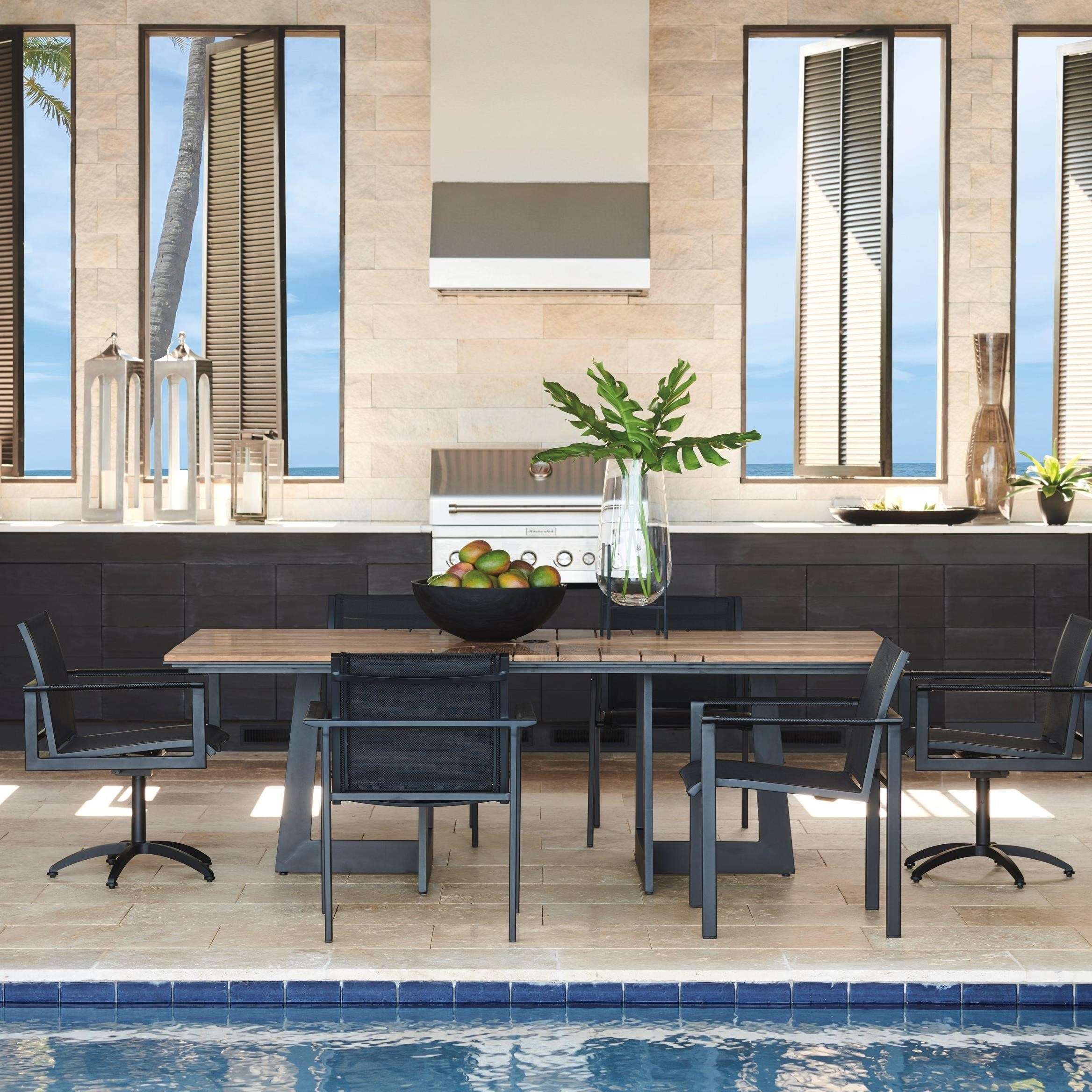 7-Piece Outdoor Dining Set with Rectangular Table