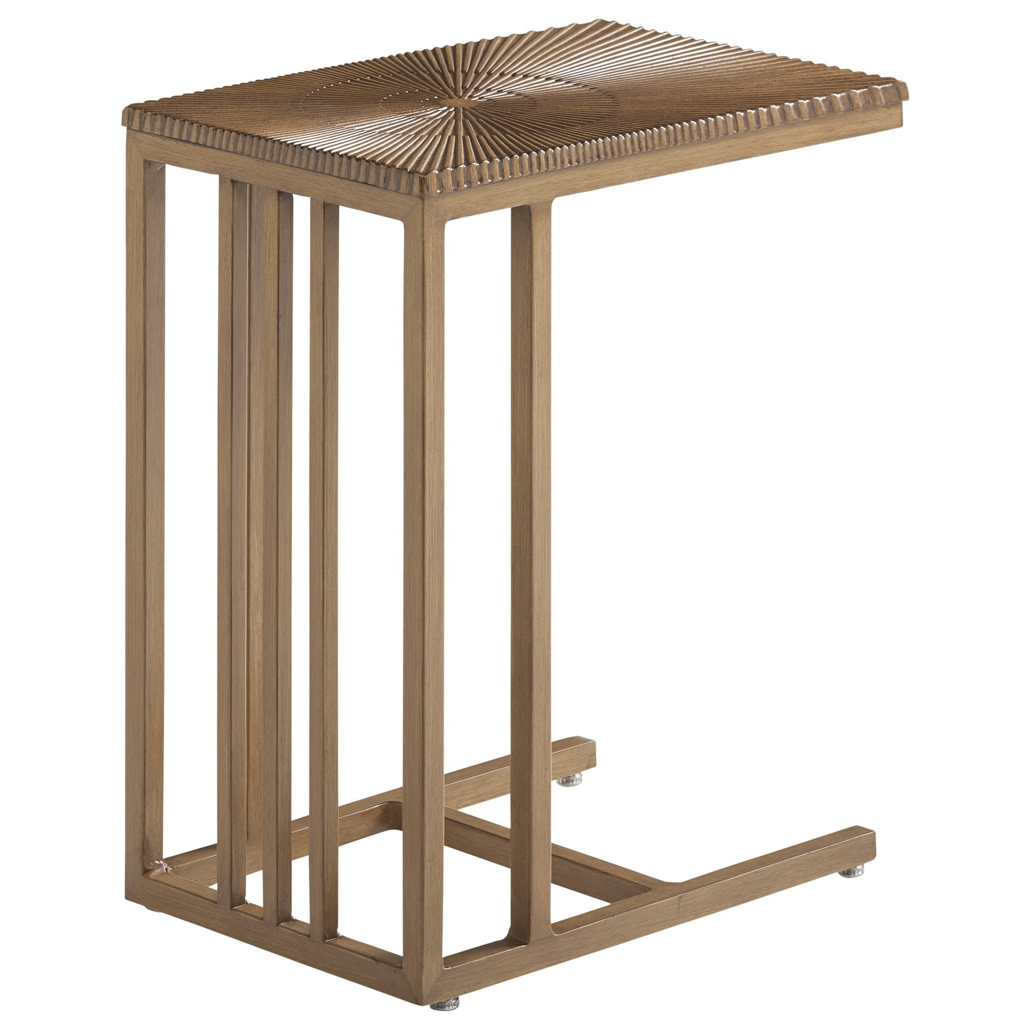 Contemporary Outdoor C-Shape End Table