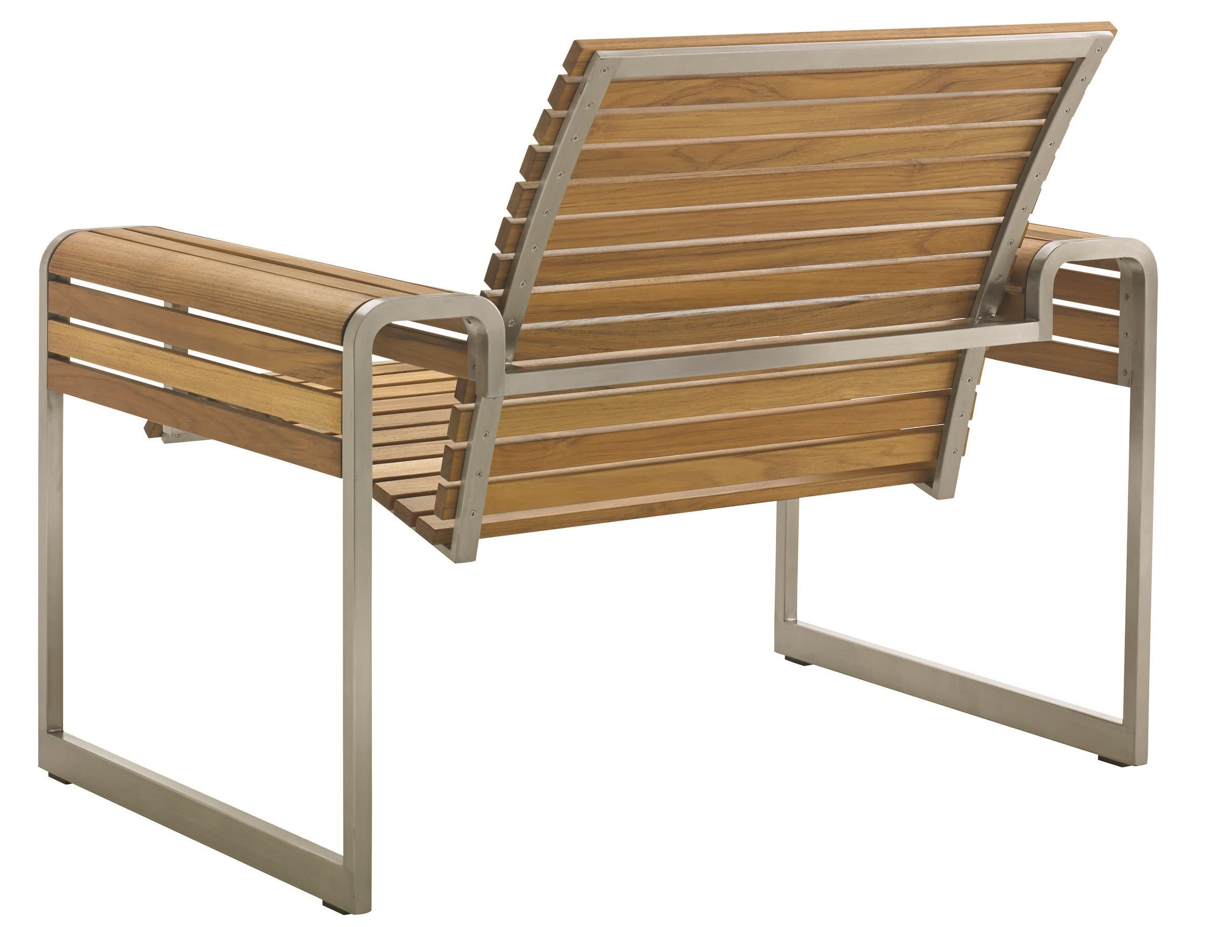 Tommy Bahama Outdoor Living Tres Chic 555199934 Modern Outdoor Lounge Chair  With Slatted Teak Frame