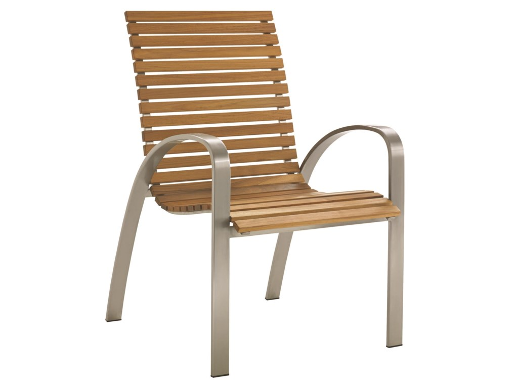 tommy bahama outdoor living tres chic  modern outdoor dining chairwith teak slat seat  baer's furniture  outdoor dining arm chairs. tommy bahama outdoor living tres chic  modern outdoor