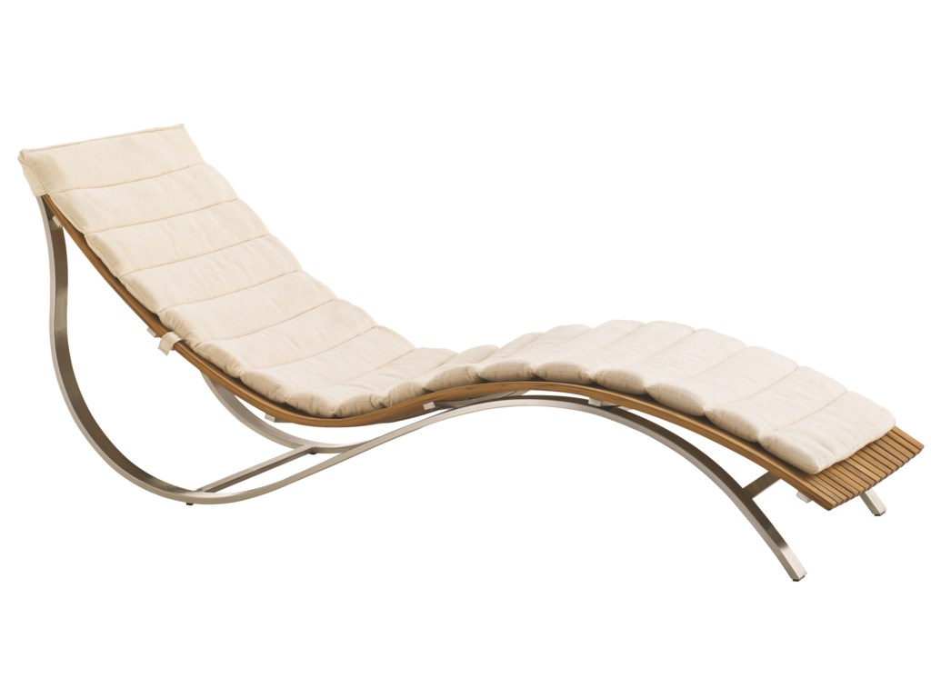 Tres Chic Modern Outdoor Chaise Lounge
