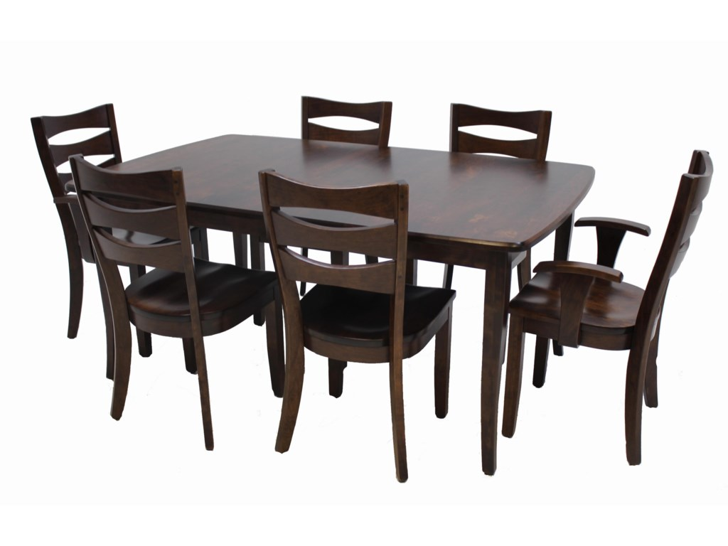 Trailway Wood ALT3648 Dining Set Includes Solid Wood Amish Table ...