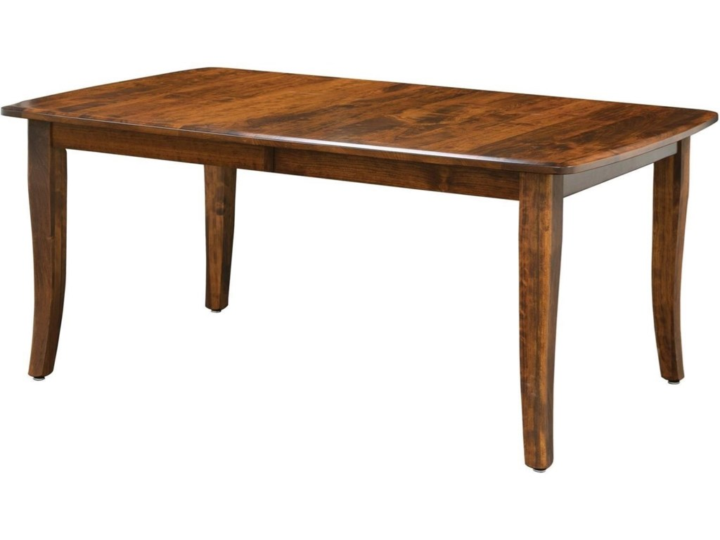 Trailway Wood Easton Pike EPL Dining Table X Solid Top - 36 x 48 dining table with leaf