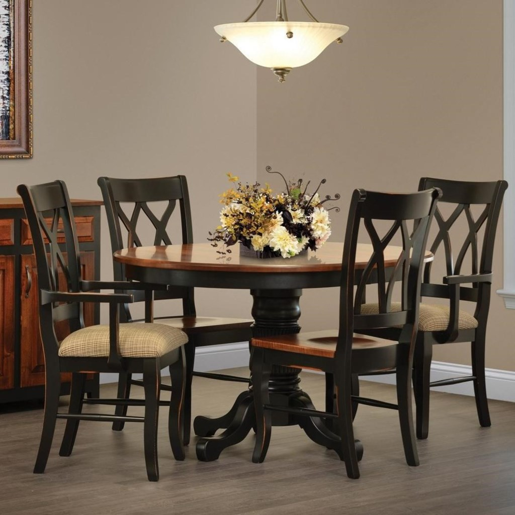 Rotmans Amish Ellis Cove Dining Table And Four Chair Set Rotmans