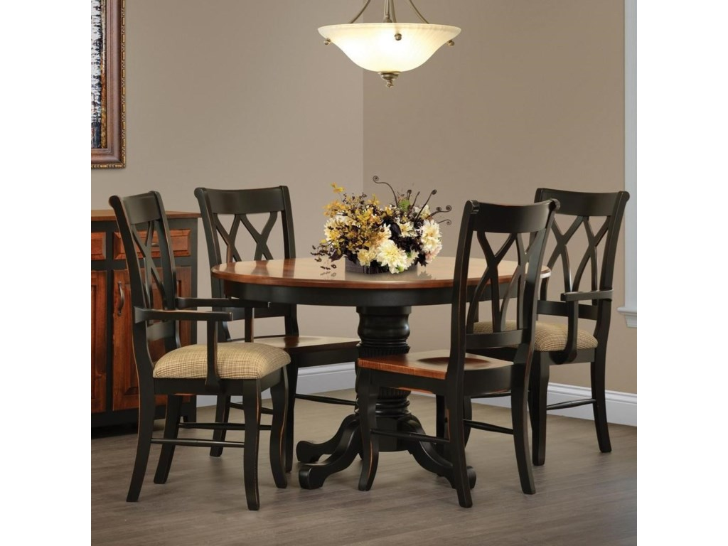Ellis Cove Dining Table And Four Chair Set By Rotmans Amish At Rotmans