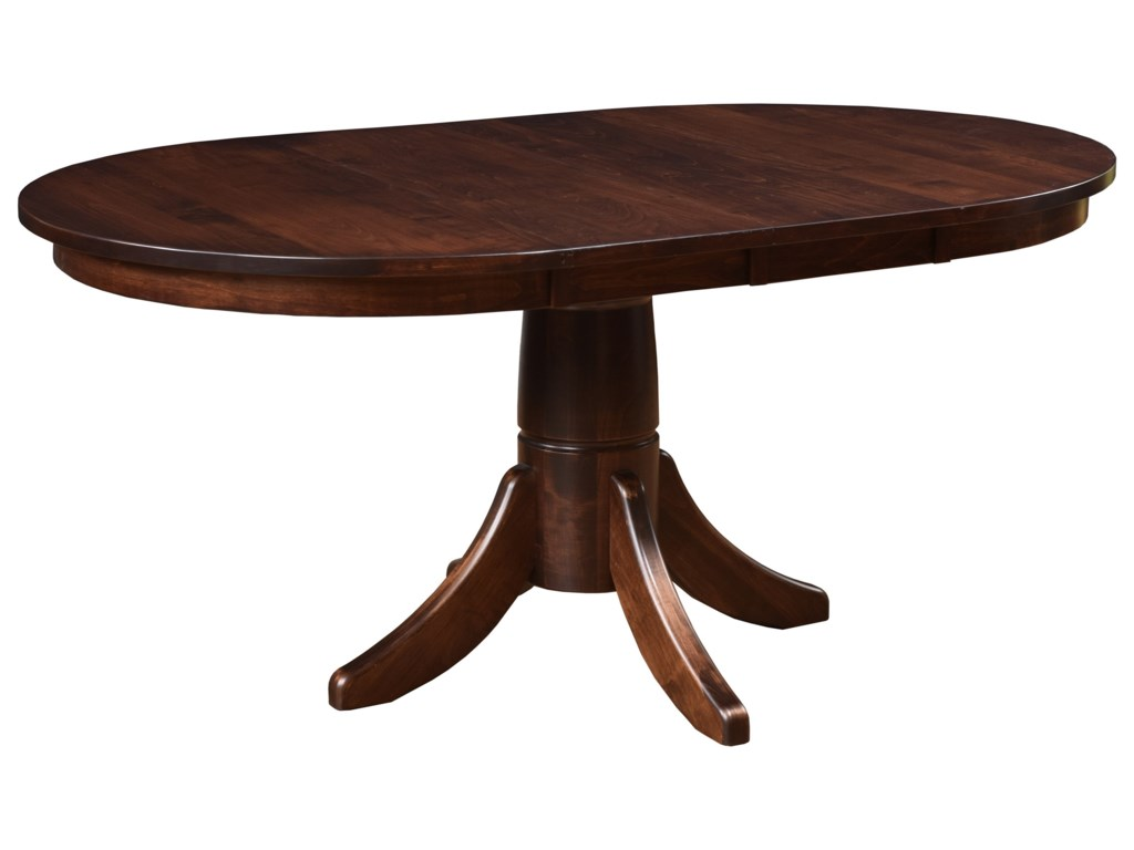 Miami Oval Dining Table With Two Leaves By Trailway Wood