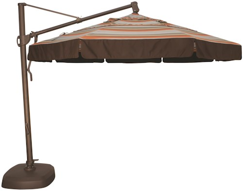Treasure Garden Cantilever Umbrellas 11' Cantilever Octagonal Umbrella with Double Wind Vent