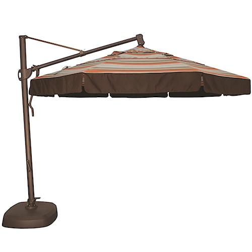 Treasure Garden Cantilever Umbrellas 11' Cantilever Octagonal Umbrella with Double Wind Vent