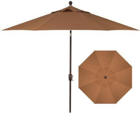 Treasure Garden Push Button Market Umbrellas 9' Push Button Tilt with Bronze Pole