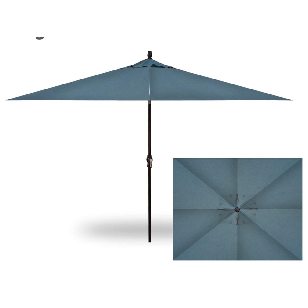 Treasure Garden Rectangle Auto Tilt Umbrellas Rectangle Auto Tilt Market  Umbrella
