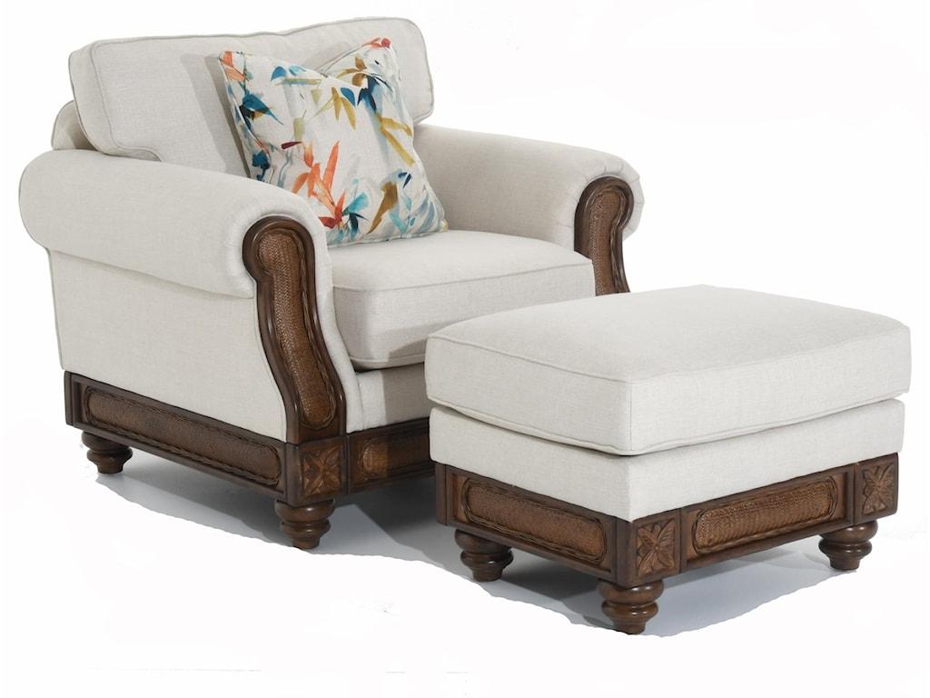 Trend Resources International 68086Rattan Detail Chair
