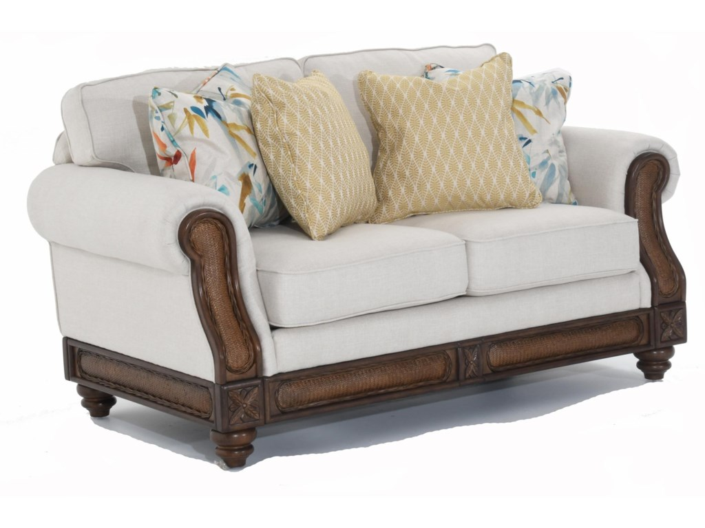 Trend Resources International 68086Rattan Detail Loveseat