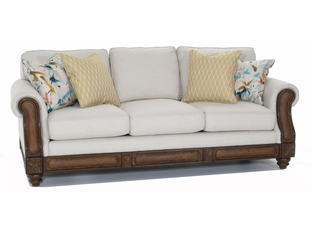 Trend Resources International 68086Rattan Detail Sofa