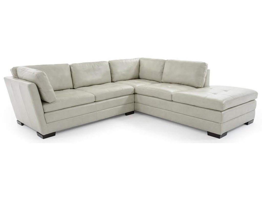 Trend Resources International Emmerson2 Pc Leather Sectional