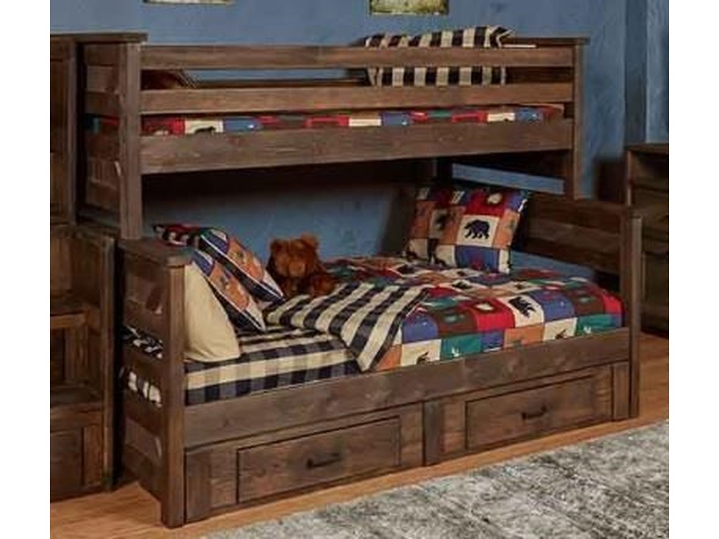 Trendwood 4200UGTwin/Full Bunk Bed