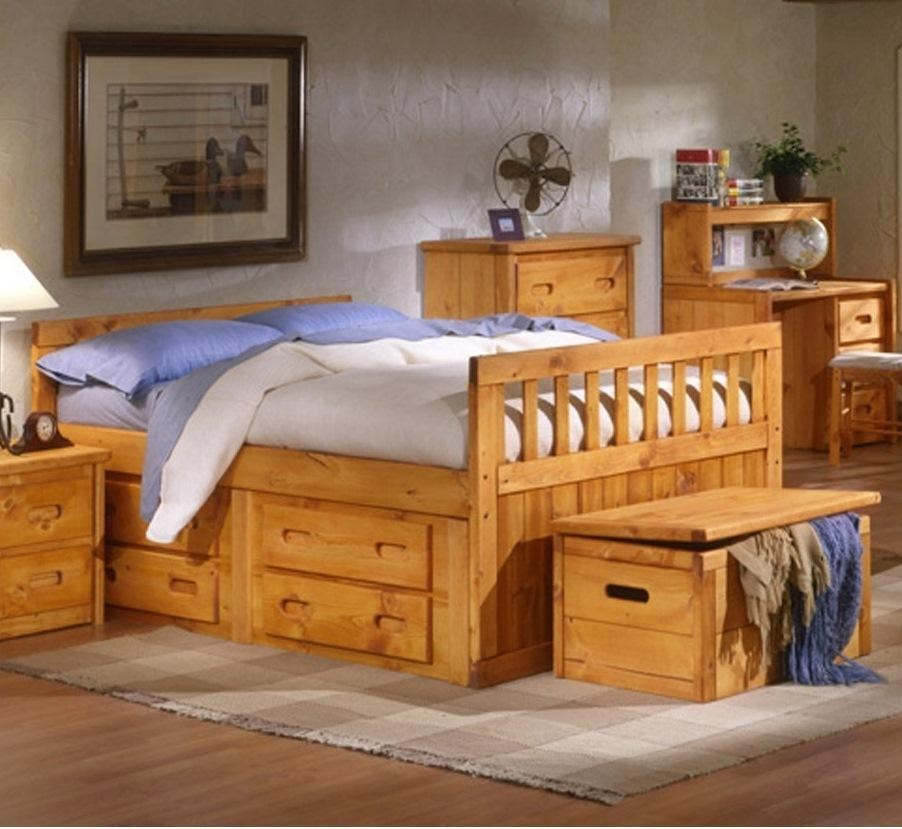 trendwood bayview bayview twin bed with storage miskelly furniture bed - Twin Captains Bed