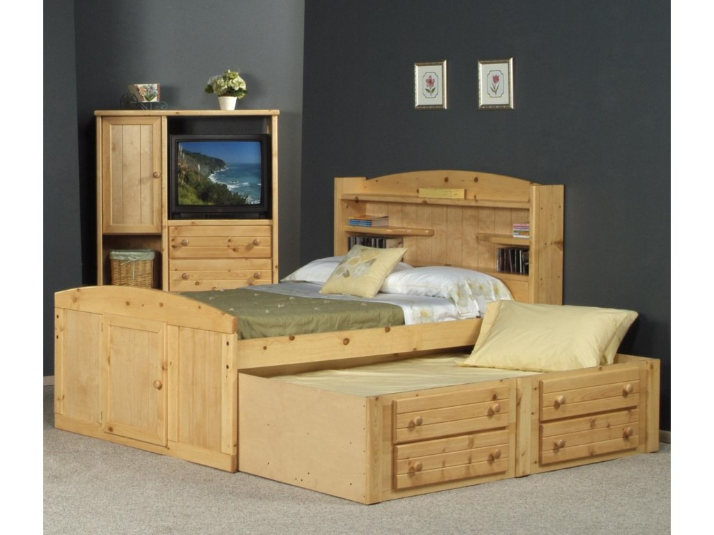 Trendwood BayviewFull Palomino Bed with Trundle