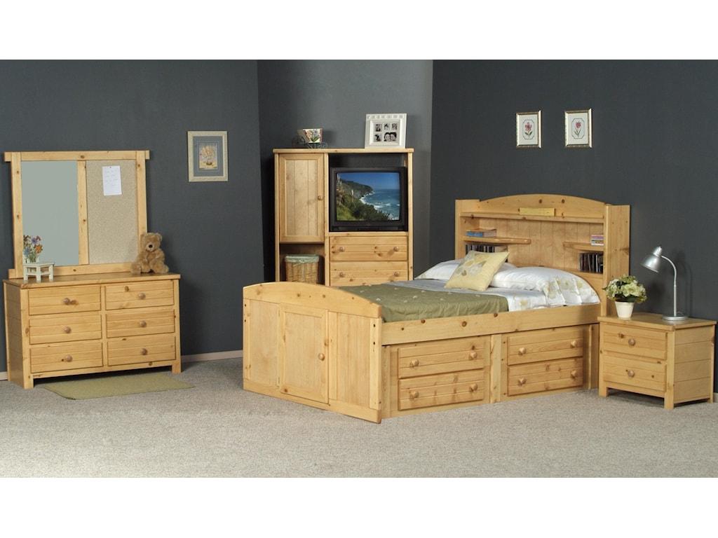 Trendwood BayviewFull Palomino Bed