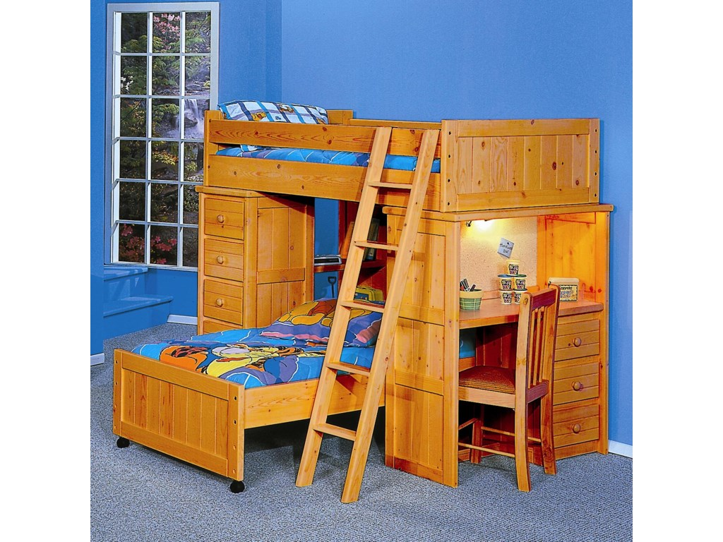 Trendwood BayviewTwin/Twin Loft Bed