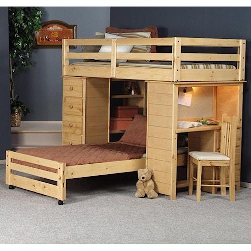 Trendwood Bayview Twin/Twin Bronco Loft Bed