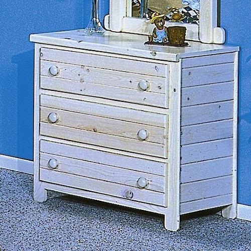 Trendwood Bayview Three Drawer Dresser