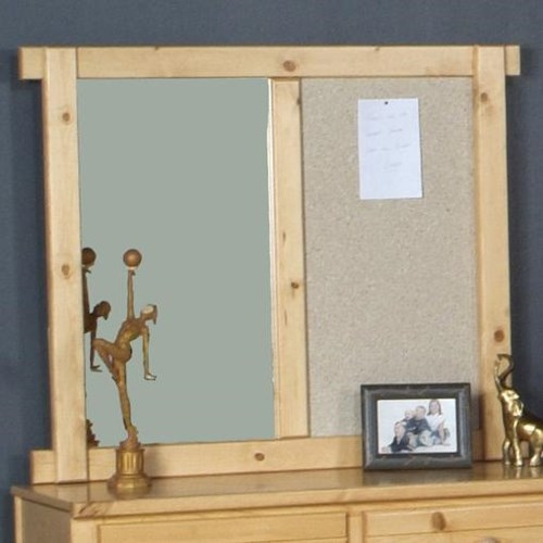 Trendwood Bayview Landscape Mirror with Cork Board