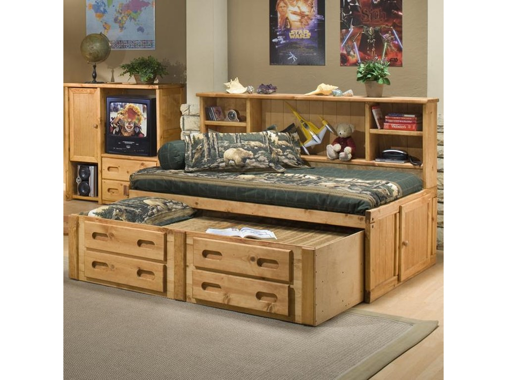 Trendwood BunkhouseFull Cheyenne Captain's Bed