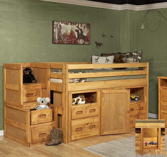 Picture of: Trendwood Bunkhouse Junior Loft Bed With Super Dresser Storage Conlin S Furniture Loft Beds