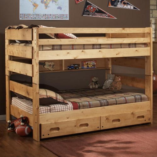 Trendwood Bunkhouse Full Big Sky Bunk Bed Furniture Mart Colorado