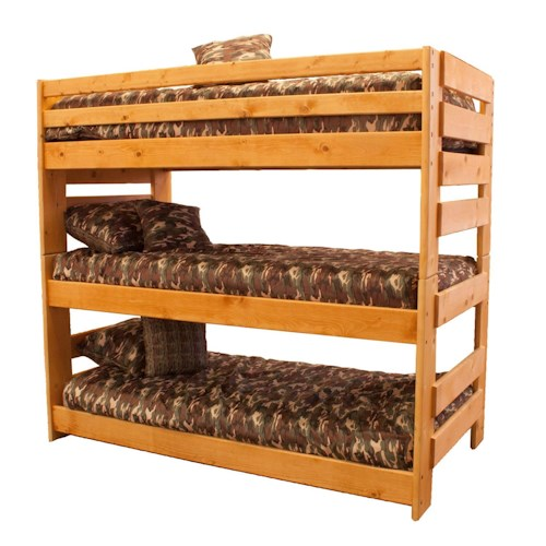 Trendwood Bunkhouse Triple Bunk Bed Boulevard Home