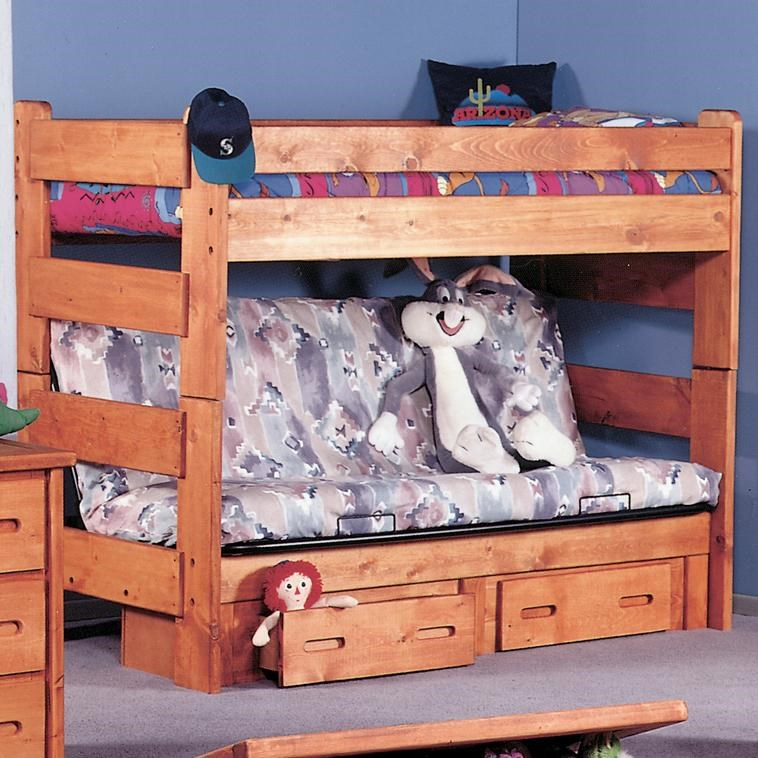 Picture of: Trendwood Bunkhouse Twin Futon Bunk Bed Conlin S Furniture Bunk Beds