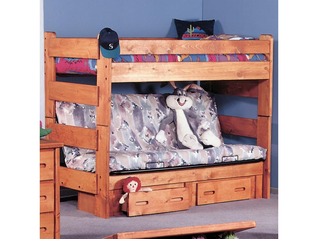Bunkhouse Twin Futon Bunk Bed By Trendwood At John V Schultz Furniture