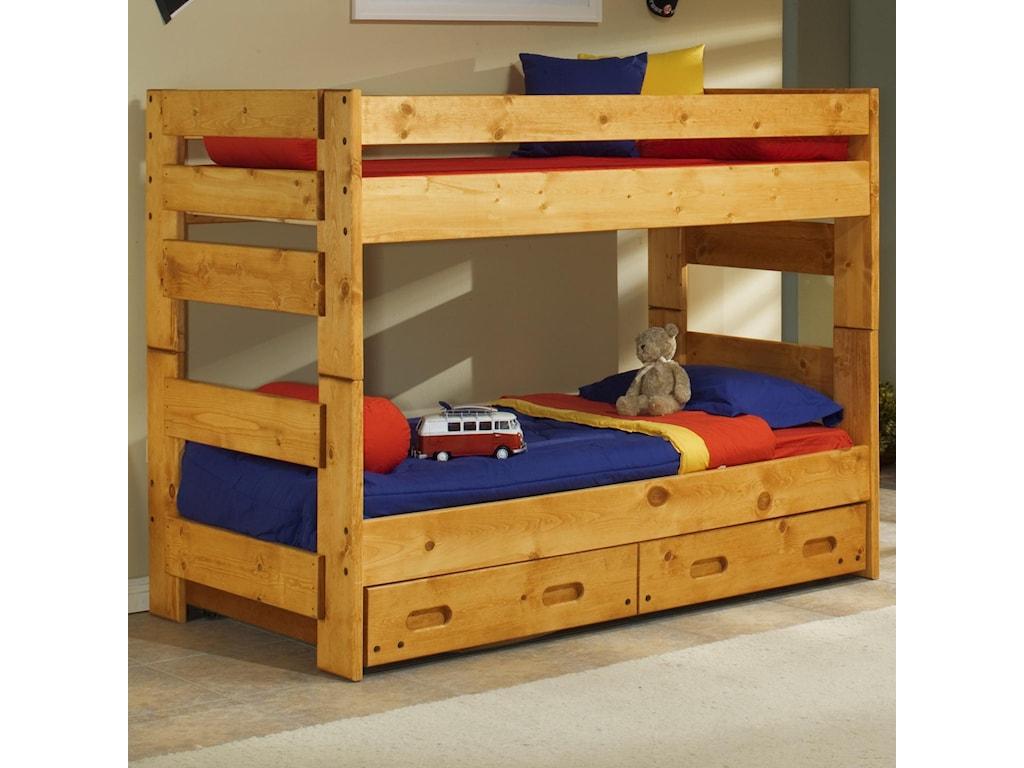 Trendwood BunkhouseTwin Over Twin Wrangler Bunk Bed