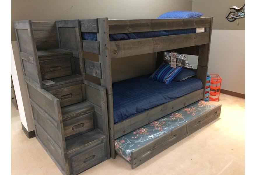 Trendwood Bunkhouse Twin Over Twin Wrangler Bunk Bed Vandrie Home Furnishings Bunk Beds