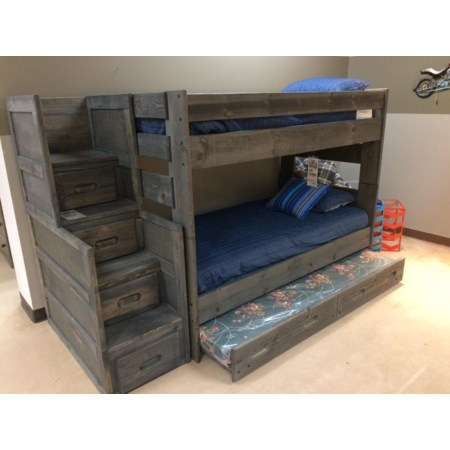 Twin Over Twin Wrangler Bunk Bed With Trundl