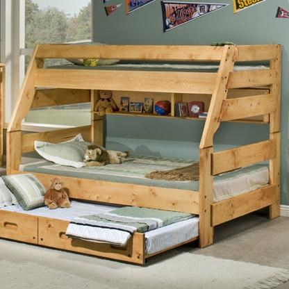 Trendwood Bunkhouse Twin Full High Sierra Bunk Bed Wayside