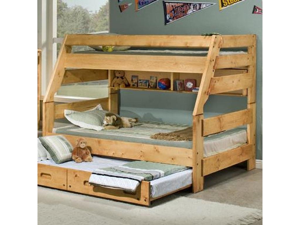 Trendwood Bunkhouse Twin Full High Sierra Bunk Bed Conlin S Furniture Bunk Beds