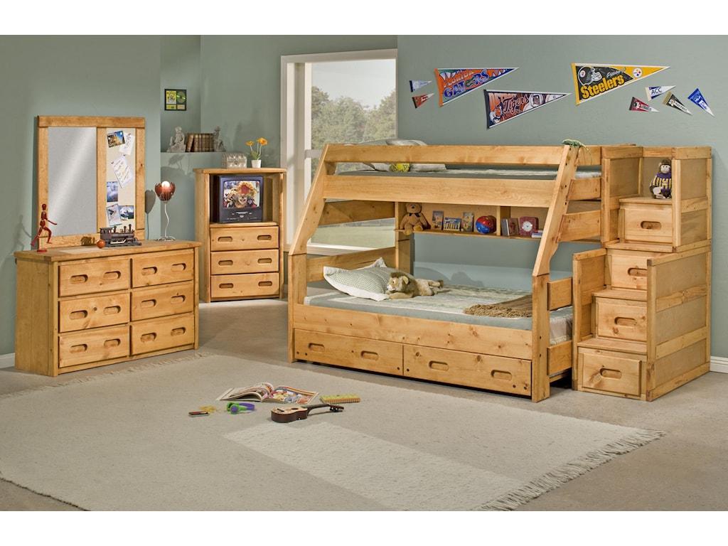 Trendwood BunkhouseTwin/Full High Sierra Bunk Bed